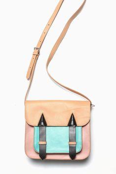 two-toned cambridge messenger bag