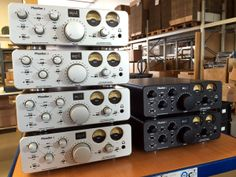 #SPL #Phonitor2 Silver and Black piled up next to each other in our warehouse in Niederkruechten, Germany.