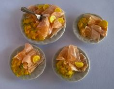 Etsy の Dolls House Miniature Food: LARGE Platter of by TheWeeDeli
