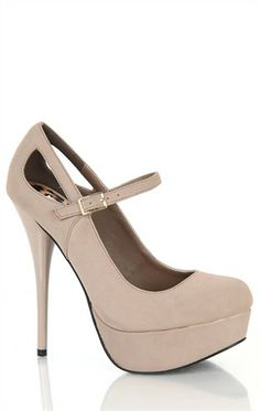 Deb Shops suede mary jane platform pump with side cutout  $32.90