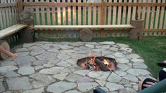 Diy firepit and benches