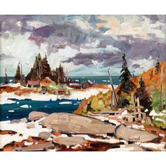 View PRINTEMPS AGUANISH By Bruno Côté; Oil on board; Access more artwork lots and estimated & realized auction prices on MutualArt. Bruno, Canadian Artists, Past, Artwork, Auction, Inspiration, Landscapes, Paintings, Oil