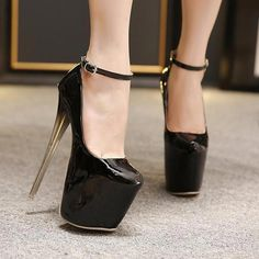 d59d56a37 Trendy platform pump ankle strap stunning stiletto high heels for the  modern fashionista Trendy design offers a unique stylish look Great for the  workplace ...