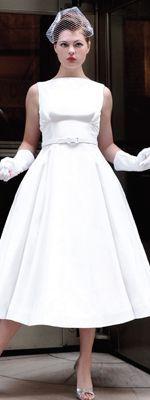boat neck polka dot dresses 50s tea length - Google Search