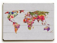 """Amazon.com - It's Your World by Artist Bianca Green 18""""x24"""" Planked Wood Sign Wall Decor Art"""