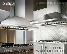 Designed to be suspended above a kitchen island, Leone's crisp lines, beveled rim and gleaming stainless steel deliver professional cooking with a sense of style.