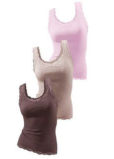 H.I.S Pack of 3 Double Rib Vest Tops