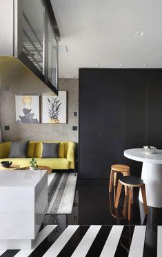 Apartamento de 46 m² com cozinha escondida! Confira no link imagens! (Foto: Mariana Orsi) #decor #decoração #decoration #decoración #apartamento #apartment #kitchen #cozinha #casavogue