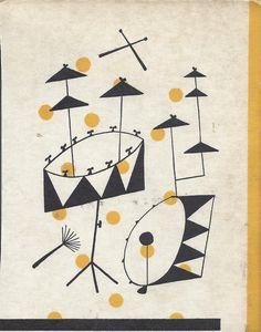Art from a vintage jazz album cover. Gravure Illustration, Music Illustration, Illustrations, Graphic Design Illustration, Jazz Poster, Retro Poster, Modern Graphic Design, Graphic Art, Trommler