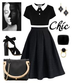 """Chic."" by schenonek ❤ liked on Polyvore featuring Chicwish, Salvatore Ferragamo, Isabel Marant, Alexis Bittar and Alexander McQueen"