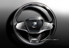BMW 7 Series Steering Wheel Design Sketch - from the gallery: Steering Wheels