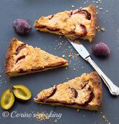 Zwetschken-Tarte French Toast, Pie, Cooking, Breakfast, Desserts, Food, Vanilla, Dessert Ideas, Kuchen