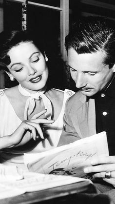Gene Tierney and Oleg Cassini, true love