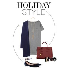 """""""Christmas Shopping"""" by shar-fashion ❤ liked on Polyvore featuring T By Alexander Wang, Zucca, Roberto Cavalli, Chloé, Yves Saint Laurent, Chanel, holidaystyle and oversizeddress"""