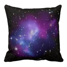 Purple Galaxy Cluster American MoJo Pillows  I really like this galaxy stuff.
