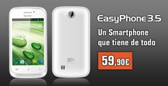 Our new smartphone, Easy Phone 3.5. 4GB internal memory, front and back cameras, Android 4.2 and much more for 59,90 euros. Place your order at www.tiendabestbuy.com