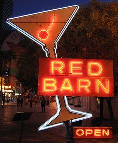 Red Barn Neon Sign Las Vegas