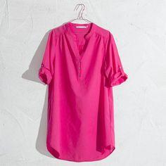 TUNIQUE COTON UNI - Femme - Loungewear   Zara Home France