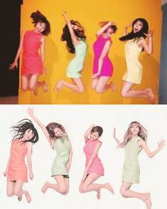 Mamamoo (마마무) 2014 x 2017. Love that they redid this pics in 2017
