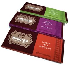 B12 Portfolio: Gourmet & Grocery Package Design - Rancho Coco Chocolate