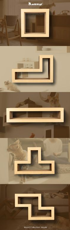 KATRIS Maple Wood Collection Blocks is a modular cat tree/ climbing tower/ condo furniture system for both cats and owners. It is multi-functional, modular & versatile. It can be changed up in endless new combinations and formations, providing new play options. Humans can use it as a bookshelf, shoe rack, coffee table, sitting area & more.