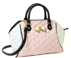 Betsey Johnson Be My Bow Top Handle Bag
