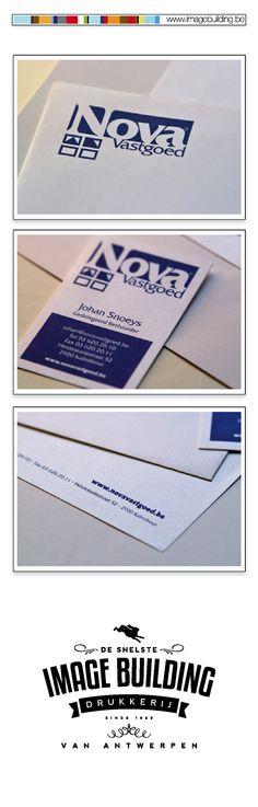 Logo & Huisstijl ontwerp en drukwerk voor 'Nova Vastgoed'. Logo. Briefhoofd. Flyers. Visite. Rollupbanners. Bashes. Autobelettering #imagebuildingnv #desnelstedrukkerijvanantwerpen #huisstijl #graphicdesign #grafisch #ontwerp #opmaak #drukwerk