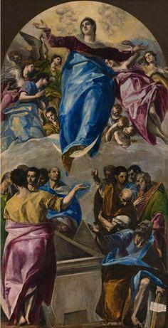 Domenikos Theotokopoulos, called El Greco  Spanish, born Crete, 1541–1614  The Assumption of the Virgin, 1577–79    Art Institute of Chicago