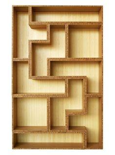 Tetris-inspired Bamboo Shelving