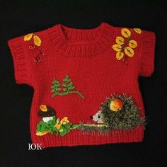 Sweater Knitting Models - Canım Anne - Knitted baby sweater models and video explanations You are in the right place about outfits party H - Baby Sweater Patterns, Knit Baby Sweaters, Baby Knitting Patterns, Baby Patterns, Knitting For Kids, Crochet For Kids, Crochet Baby, Knit Crochet, Knitted Baby