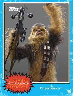 Star Wars The Force Awakens Chewbacca Card
