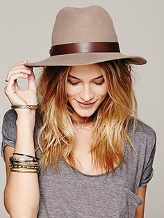 Need this Indiana Jones style Free People Leather Banded Floppy Hat!