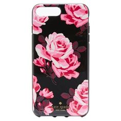 Kate Spade New York Rosa iPhone 7 Plus Case ($46) ❤ liked on Polyvore featuring accessories, tech accessories, black multi and kate spade