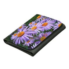 Purple Asters Wallet many styles available