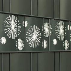 Verschiedenen Motive der Design Sichtschutzstreifen für den einzigartigen Zaun