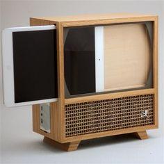 Houten behuizing verandert iPad mini in jaren 50-tv | Gadgetzone.nl