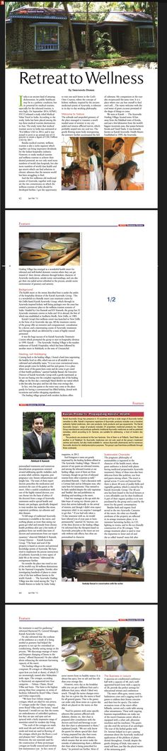 Ayurvedic Healing, Business Magazine, February 2015, Indian