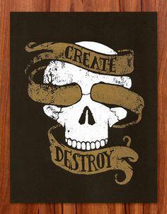 Create & Destroy Skull - Mitch Kelly