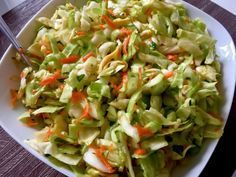 Surówka z kapusty Cooking Recipes, Healthy Recipes, Healthy Food, Polish Recipes, Polish Food, Coleslaw, Cabbage, Grilling, Salads