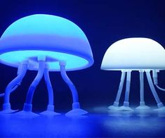 Light up your desk or nightstand with these USB jellyfish shaped lamps. With the ability to switch between a bright white and blue color with the flick of a switch, these jellyfish lamps can also be placed just about anywhere thanks to their suction cup feet.