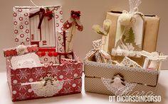 Buon giorno ragazze, è un piacere essere di nuovo qua! Questa volta ho pensato in anticipo ai pensierini di Natale e avendo per mano una cassetta di legno,mi è venuto in mente di realizzarne alcune...