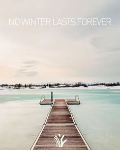 no winter lasts forever Fontana Lake, Golf Courses, Beach, Winter, Outdoor, Winter Time, Outdoors, Seaside, Outdoor Games