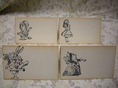 Alice in Wonderland Name Cards - Wedding, Birthday, Special Gathering - BLANK - Red Queen, Mad Hatter, White Rabbit - Set of 40