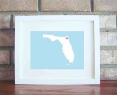 Customize Your Home Is Where The Heart Is  Florida by LilyGene, $25.00