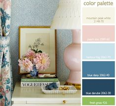Marie Antoinette color palette- blues, peach, ivory.001