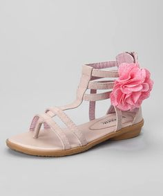 Take a look at this Pink Flower Sandal by Henry Ferrera on #zulily today!