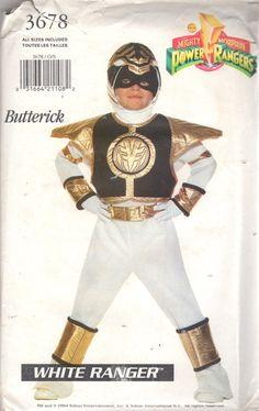 Butterick 3678 Boys Girls White Ranger Power Ranger by mbchills