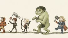 Artist Hannah Friederichs drew this amazing picture of The Avengers in the style of the late Maurice Sendak