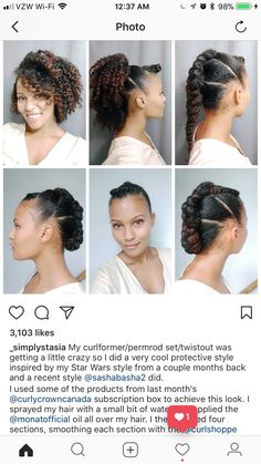 Crochet Braids Updo Hairstyles Protective Styles Ideas For 2019 Natural Hair Updo, Natural Hair Journey, Natural Hair Care, Natural Hair Styles, Braided Hairstyles Updo, Afro Hairstyles, Braided Updo, Black Hairstyles, Protective Hairstyles
