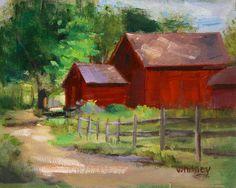 Farm Painting Illinois Landscape Farm Art Red Barn Oil